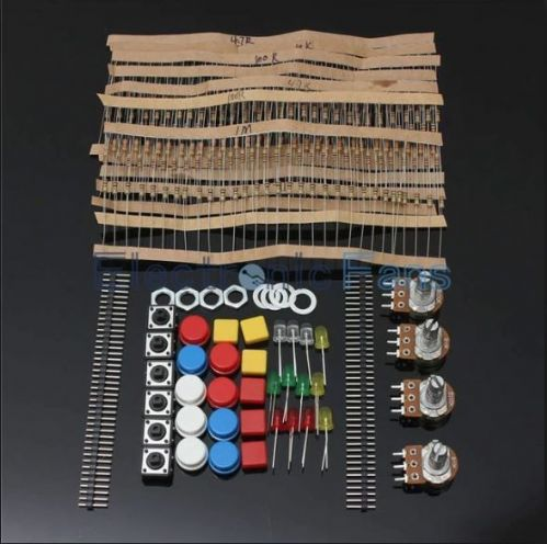 Electronic Parts Component Resistors Switch Button Kit